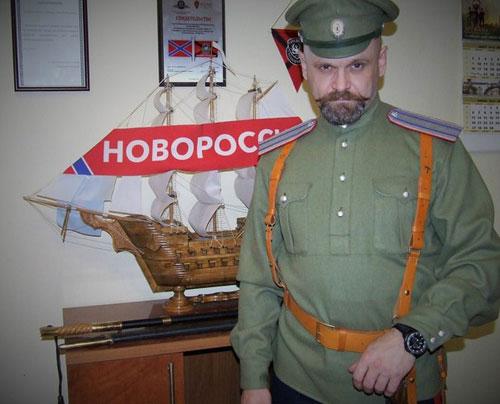 Алексей Борисович Мозговой в форме офицера армии Российской Империи