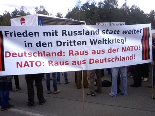 Мир с Россией вместо движения к Третьей Мiровой войне! Германия: прочь из НАТО! НАТО: вон из Германии!
