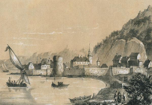 Вид Керчи в 1821 году