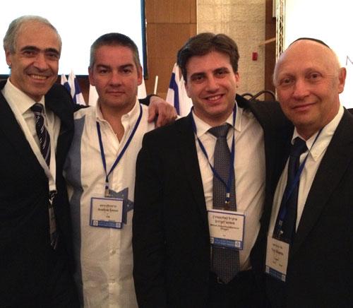 М. Членов и М. Машаров на съезде