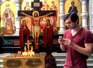 Блогер ловит покемонов в храме