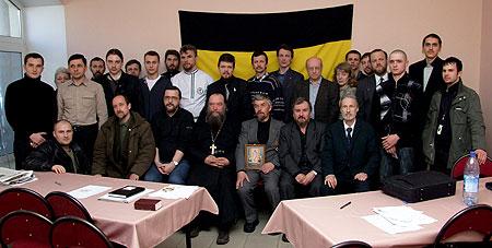 Группа участников (примерно половина) Бело-Монархического совещания. Белое движение