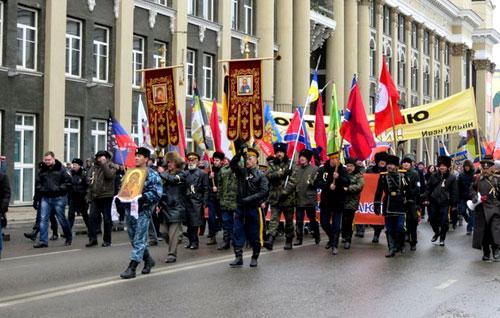 Русский марш за Новороссию в Иркутске