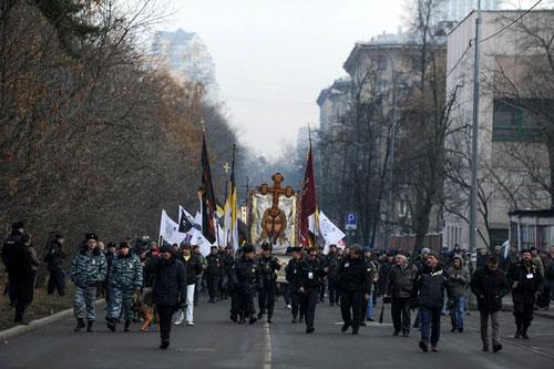 Русский марш2014. Москва. Щукино