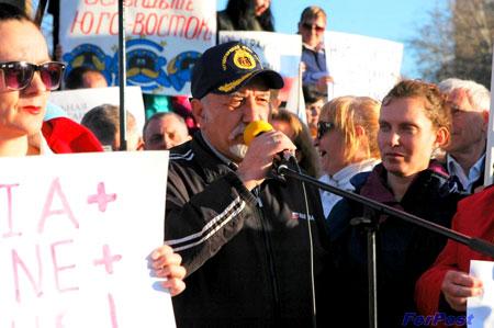 Выступление А.Тевосова на митинге в поддержку Юго-Востока Украины