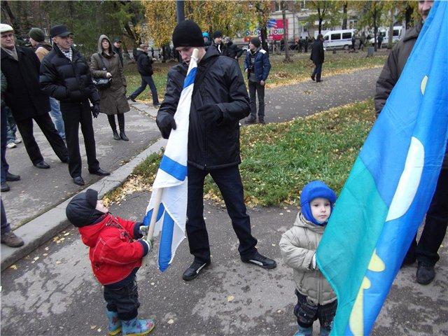Самые молодые участники Русского Марша с папой