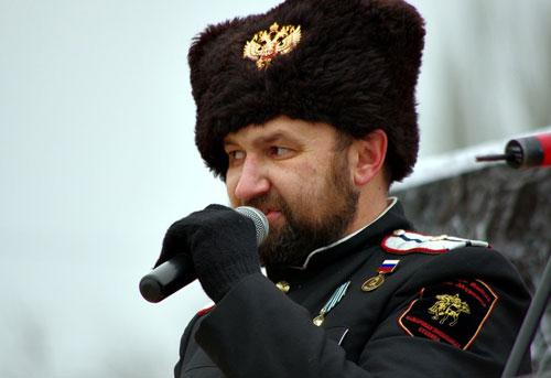 Русский Марш 2014 Самара. Казак Павел Коровин