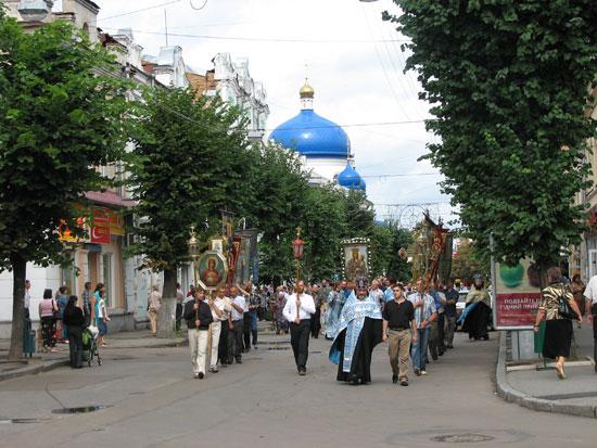 Крестный ход в Житомире